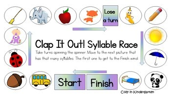 Clap it out! Syllables Center Game