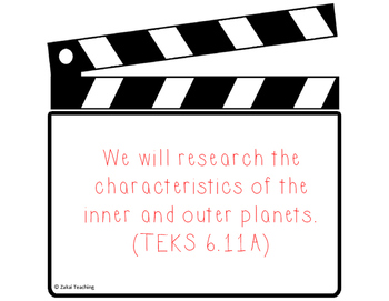 Clapboard 6th grade Science TEKS