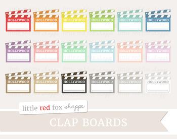 Clapboard Clipart; Movie Theater, Clap Board, Film, Director