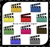 Clapperboard Clipart / Movie Clipart / Movie Night Clipart