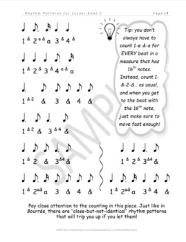 Clapping Exercises & Rhythm Patterns for Suzuki Book 2 (Violin)