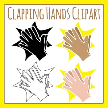 Clapping Hands Clip Art Pack for Commercial Use