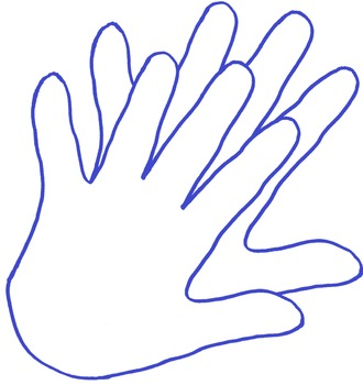 Clapping Hands Line Clipart