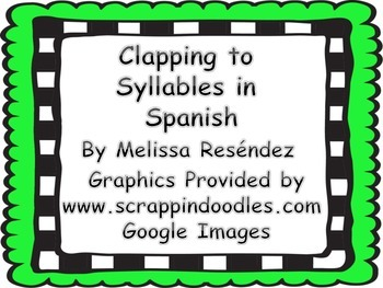 Clapping Syllabels in Spanish