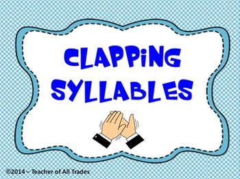 Clapping Syllables Flipchart