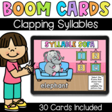 Clapping Syllables - Digital Task Cards - Boom Cards