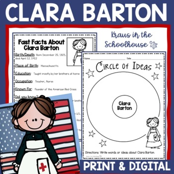 Clara Barton Research Activity Sheets and Graphic Organizers
