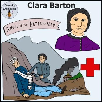 Clara Barton Clip Art by Dandy Doodles