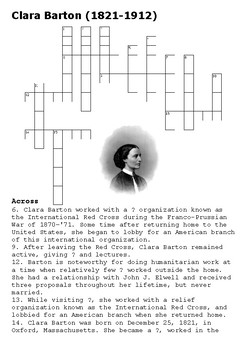 Clara Barton Crossword