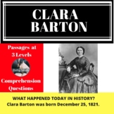 Clara Barton Differentiated Passage & Comprehension Questi