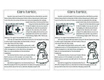 Clara Barton Foldable Lesson