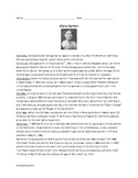 Clara Barton - Informational Article Review Questions Timeline Vocab Wordsearch