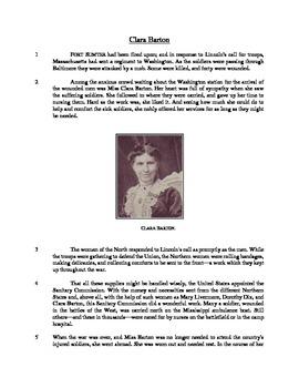 Clara Barton - Informational Text Test Prep