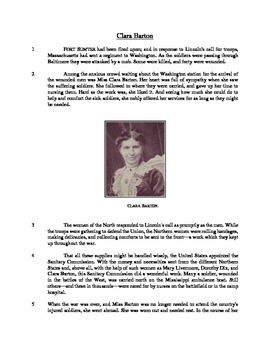Clara Barton - Informational Text Test Prep
