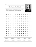 Clara Barton Word Search (Grades 3-5)