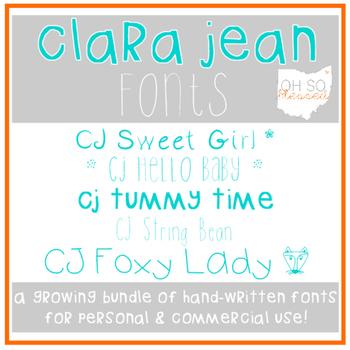 Clara Jean Fonts >> a growing bundle!