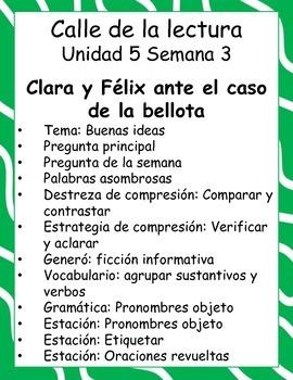 Clara y Félix ante el caso de la bellota -Calle de la lectura- Unit 5 Week 3