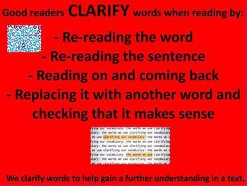 Clarifying Reading Poster
