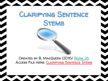 Clarifying Sentence Stems (Compare and Contrast) (Google Drive)