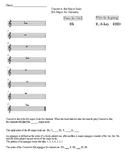 Clarinet B-flat Major Worksheet