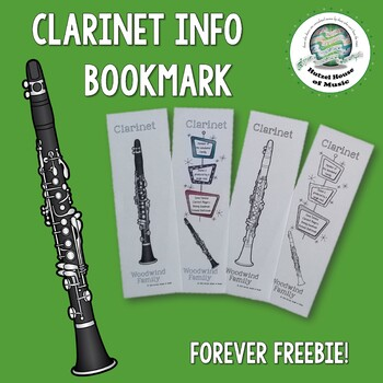Clarinet Bookmarks FOREVER FREEBIE