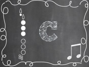 Clarinet Fingering Set {Chalkboard-Themed}