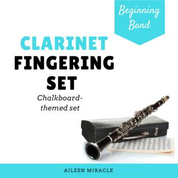 Clarinet Fingering Set {Chalkboard-Themed}