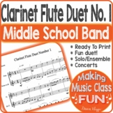 Clarinet Flute Duet Number 1