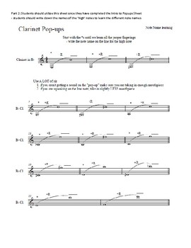 Clarinet High note exercises