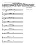 Clarinet Register Shift Worksheet