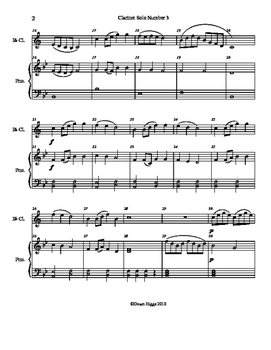 Clarinet Solo Number 3