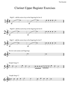 Clarinet Upper Register Exercises