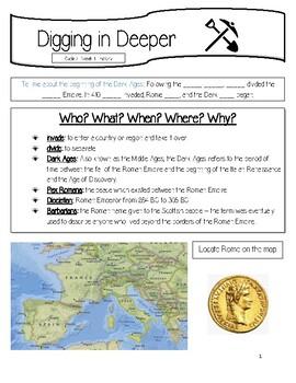 Claritas Cycle 2  History Memory Work Teacher Helps Sample Page