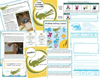 Math Intervention Problem-Solving Unit {Clark Counting Crocodile}