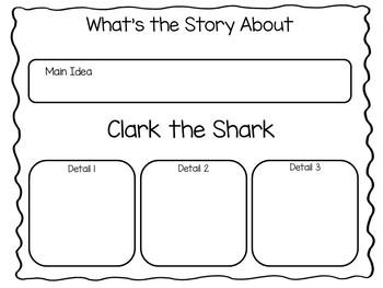 Clark the Shark ~ 36 pgs Common Core Activities