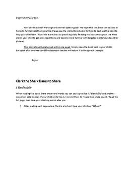 Clark the Shark Dares to Share Speech & Fluency Activities