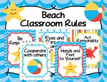 Classroom Rules Beach Theme