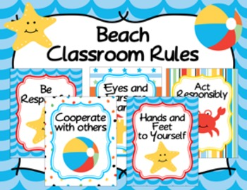 Classroom Rules Beach Theme