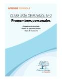 Clase 2, Pronombres Personales