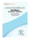 Clase 5, Gentilicios