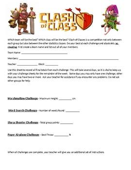 Clash of Classes Statistics Project