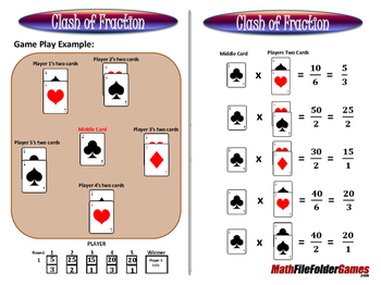Clash of Fraction - Multiplying Fractions Game