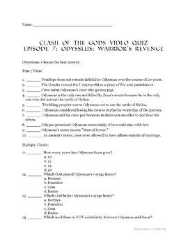 Clash of the Gods Episode 7: Odysseus: Warrior's Revenge - Video Guide
