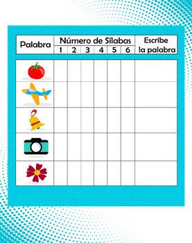 Clasificación de Sílabas: Fichas lúdicas