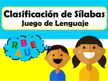 Clasificación de Sílabas: Juego de Lenguaje