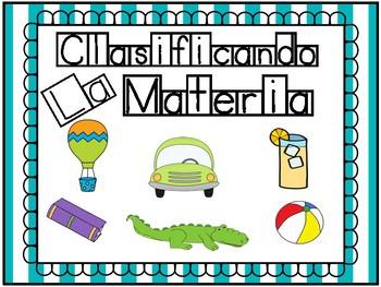 Clasificando La Materia / Vocabulario Ilustrado y Actividades