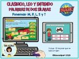 Sílabas (M, P, L, S y T) - Clasifico, leo y entiendo palabras Boom Cards