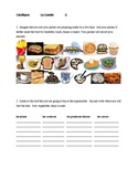Comida (Food in Spanish) Clasifiquen Partner speaking activity