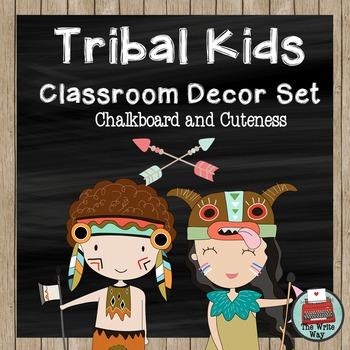 Clasroom Decor - Tribal Kids Theme