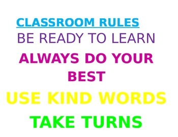 Clasroom Rule Sign